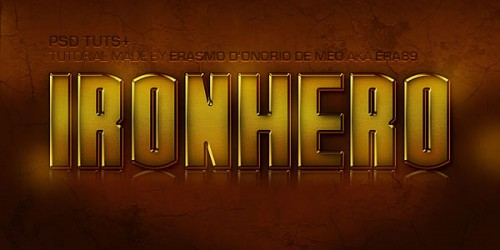 """19_Create an """"IronHero"""" Text Effect in Photoshop"""