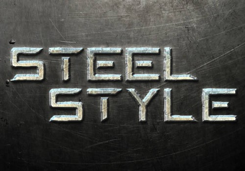 5_Create a Steel Text Effect in Photoshop