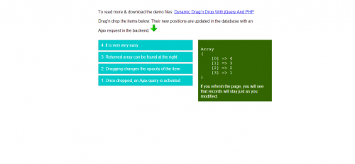 7_Dynamic Drag'n Drop With jQuery And PHP