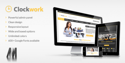 Clockwork WP - Responsive Business Theme