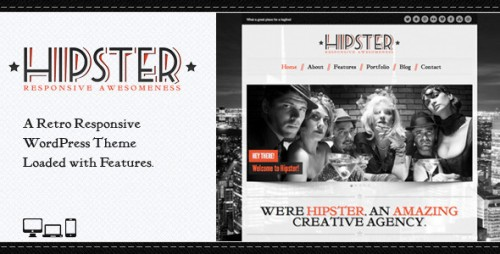 Hipster: Retro Responsive WordPress Theme