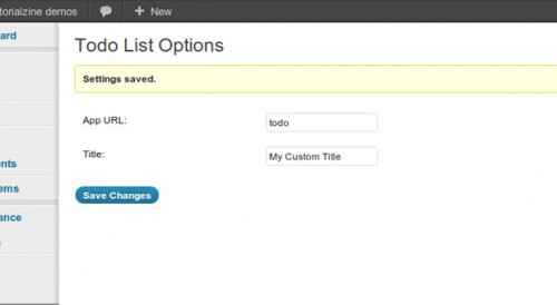 Build an Option Panel for your WP Plugin
