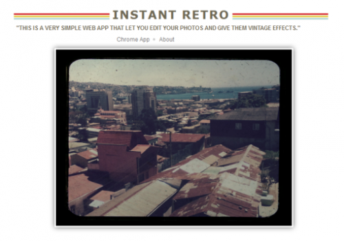 Instant Retro Photo Editing