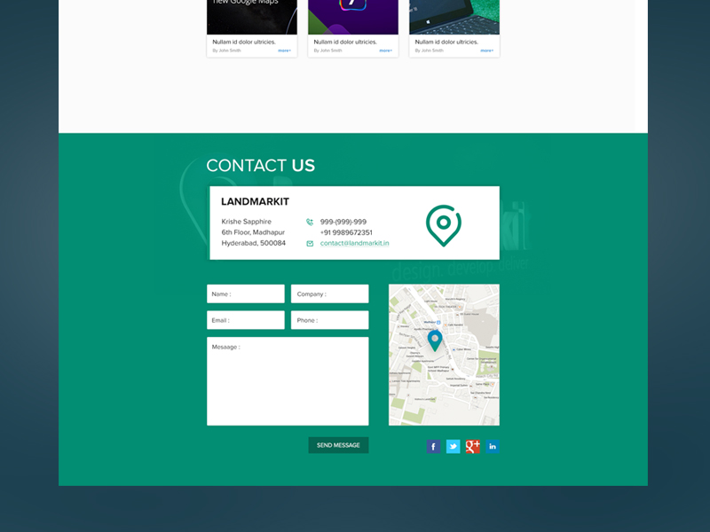 Cool Contact Us Pages with Flat Design