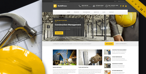 BuildPress - WP Theme For Construction Business