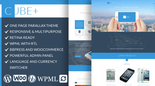 Cube+ - Responsive Multipurpose One Page Theme