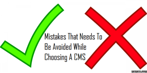 Mistakes in CMS