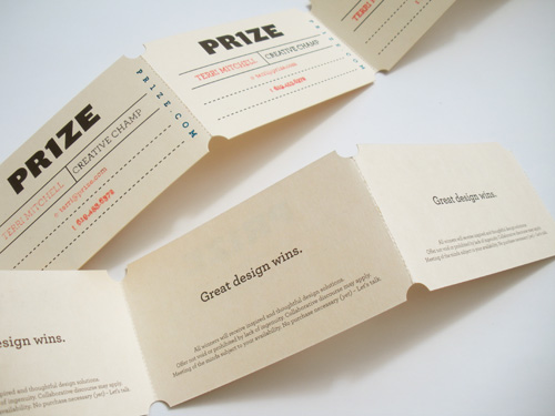PR1ZE - Folded Business Card