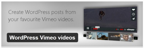 WordPress Vimeo Videos