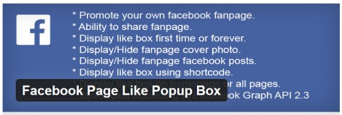 Facebook Page Like Popup Box
