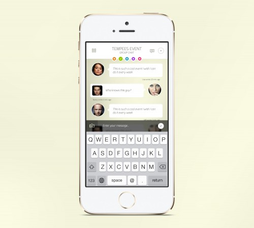 IOS Chat App Screen PSD