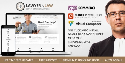 Lawyer & Law - Attorney, Advocate WordPress Theme