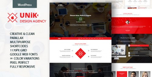 Unik - Creative Multipurpose WordPress Theme