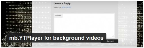 mb.YTPlayer for Background Videos