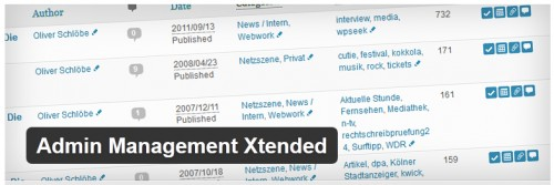 Admin Management Xtended