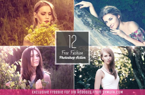 12 Free Photoshop Actions for Fashion Bloggers
