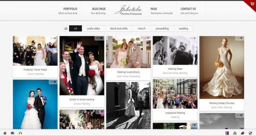 JPhotolio: Responsive Wedding WP Theme