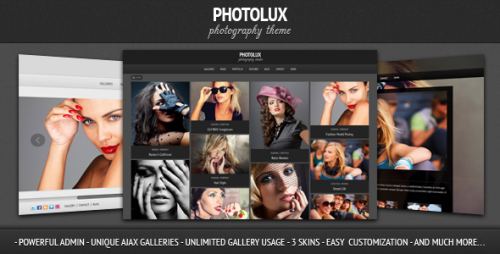 Photolux - Photography Portfolio WP Theme