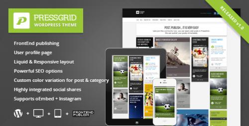 PressGrid - Frontend Publishing & Multimedia Theme