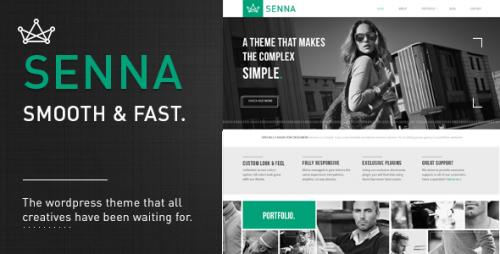 Senna - Responsive Portfolio WP Theme