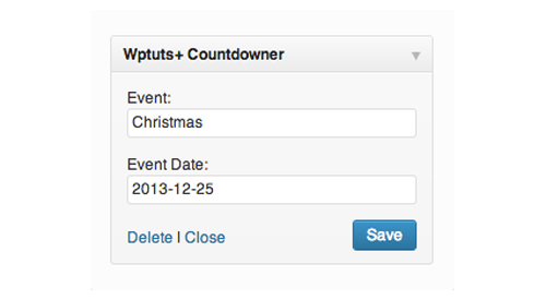 Building a Countdown Timer Widget