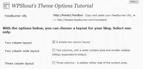Create An Advanced Theme Options Panel
