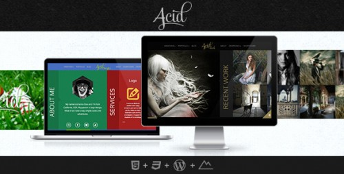 Acid - Horizontal Blog and Portfolio Theme