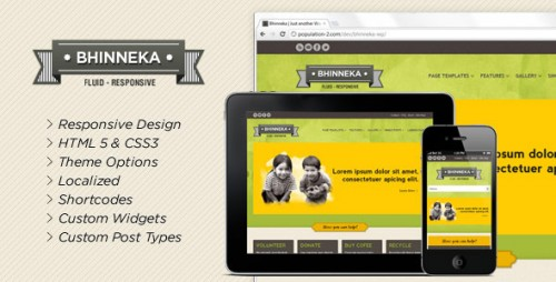 Bhinneka - Responsive WordPress Theme