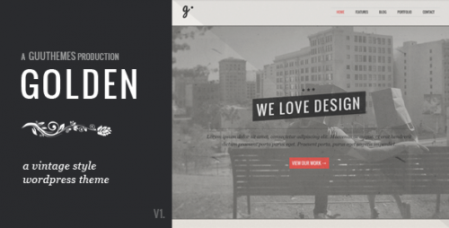 GOLDEN - Responsive Vintage WP Theme
