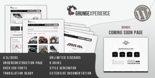 Grungexperience - Premium WordPress Theme