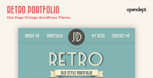 Retro Portfolio - One Page Vintage WP Theme