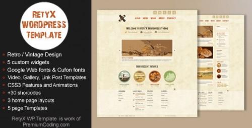RetyX - Vintage and Retro Blog WP Theme