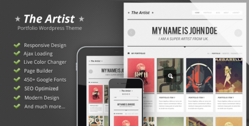 The Artist - Clean Responsive Portfolio Theme