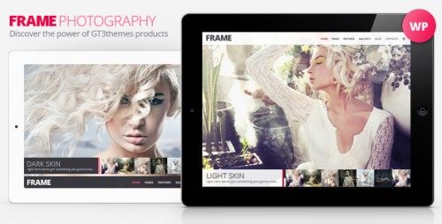 Frame Photography Minimalistic WP Theme