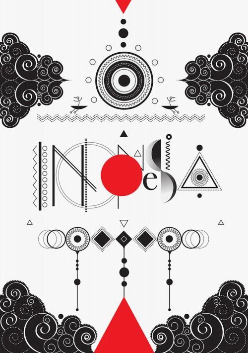 Indonesia Typographic Poster