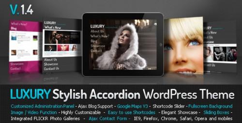 Luxury Stylish Accordion WordPress Theme