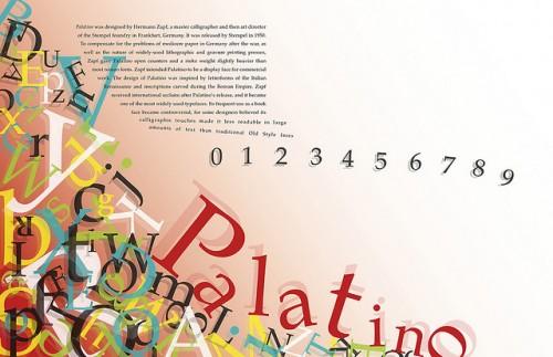 Palatino Typographic Poster