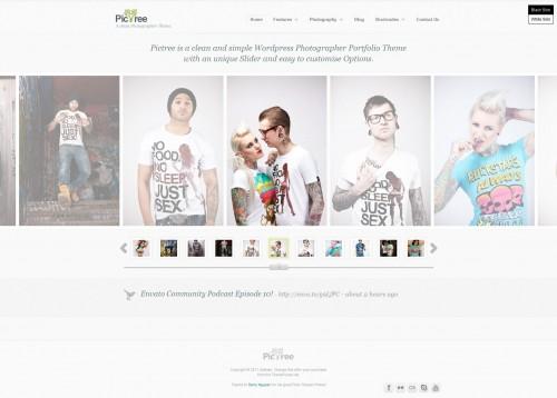 PicTree - Clean Photographer WordPress Theme