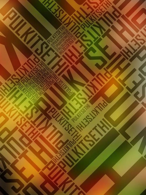 Trendy Typographic Poster