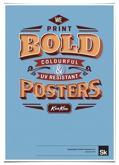 Typographic Poster Promotion