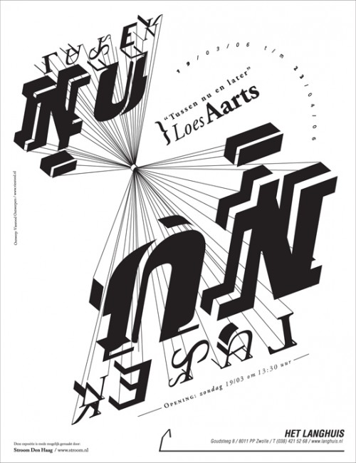Typographic Poster for Artgallery in Zwolle