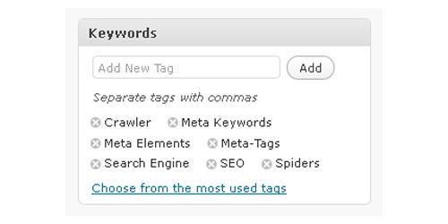 WordPress Meta Keywords