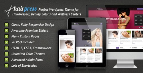 Hairpress - WordPress Theme for Hair Salons