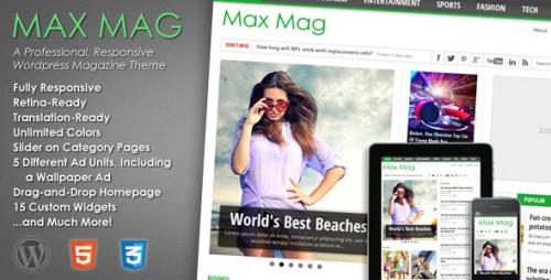 Max Mag - Responsive WP Magazine Theme