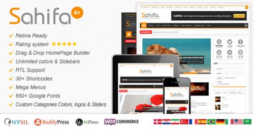 Sahifa - Responsive News, Magazine, Blog