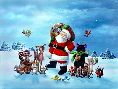 Christmas Santa Wallpaper for 2013