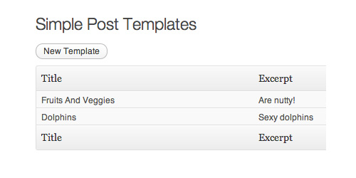 Simple Post Templates