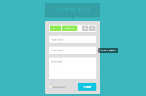 Flat Contact Form