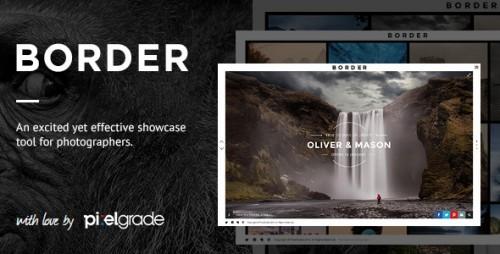 BORDER - Photography WordPress Theme