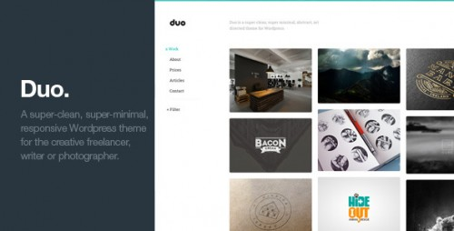 Duo - Unique Minimal Responsive WP Theme